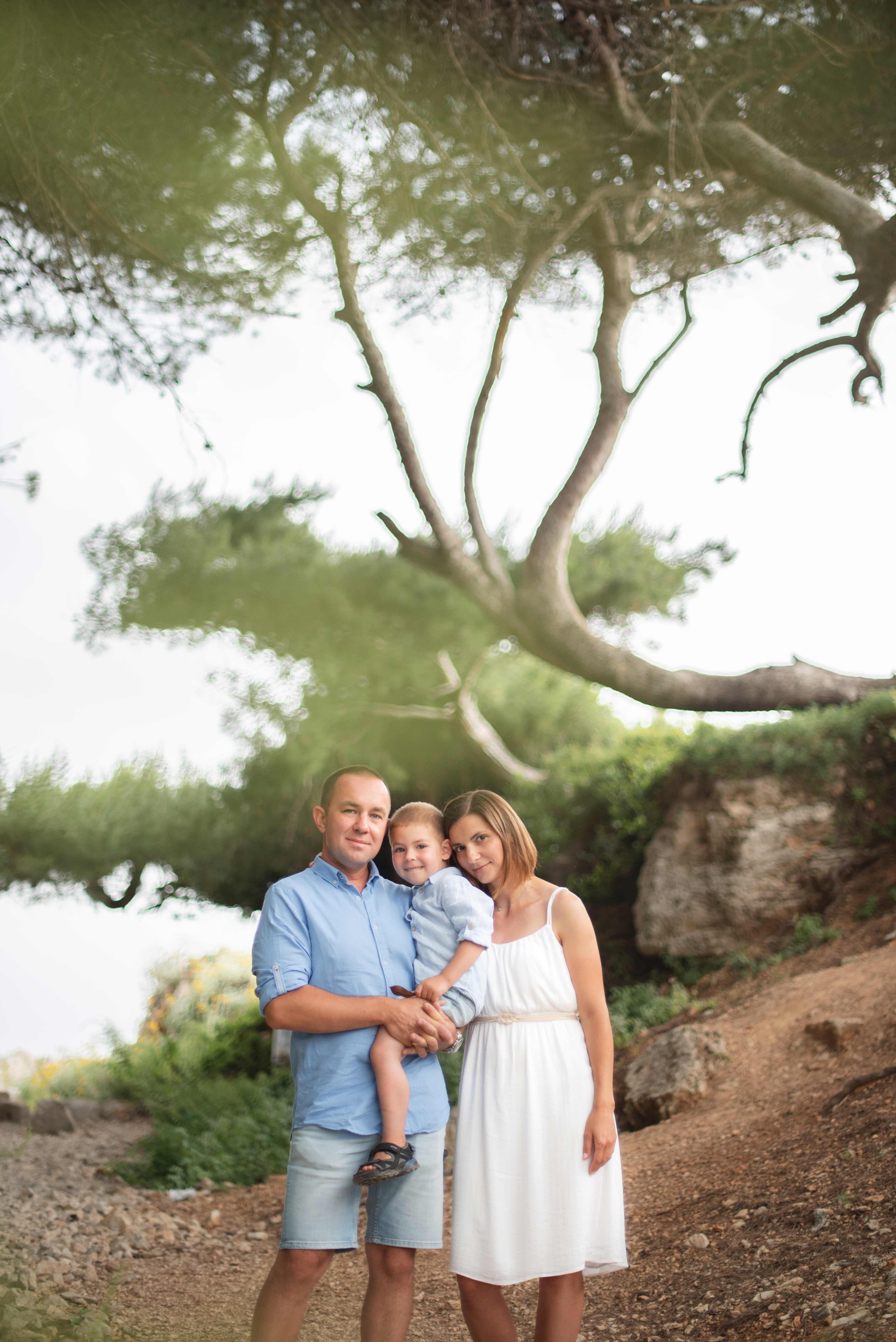 Une famille photo en nature