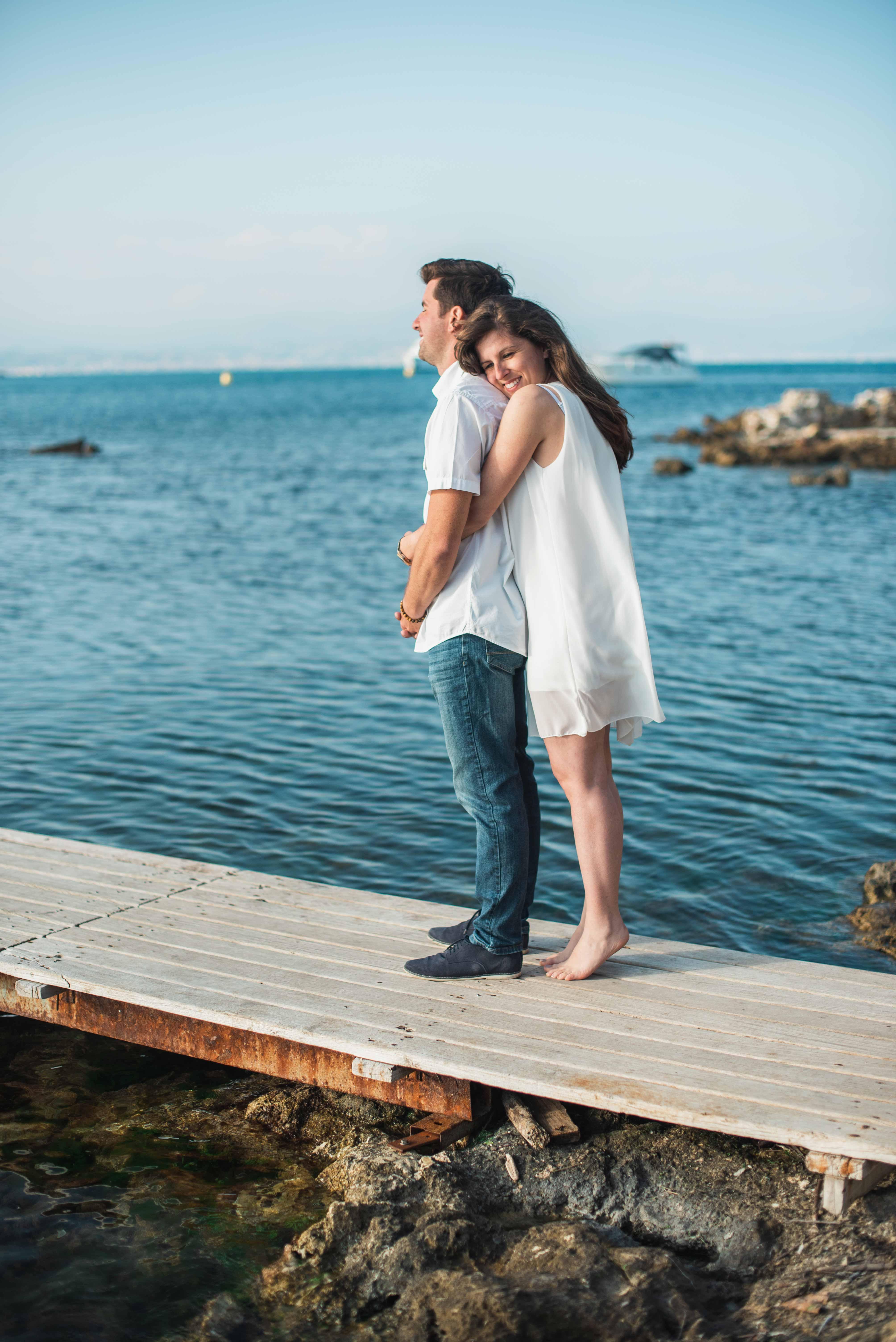 Séance d'engagement avant le mariage Nice
