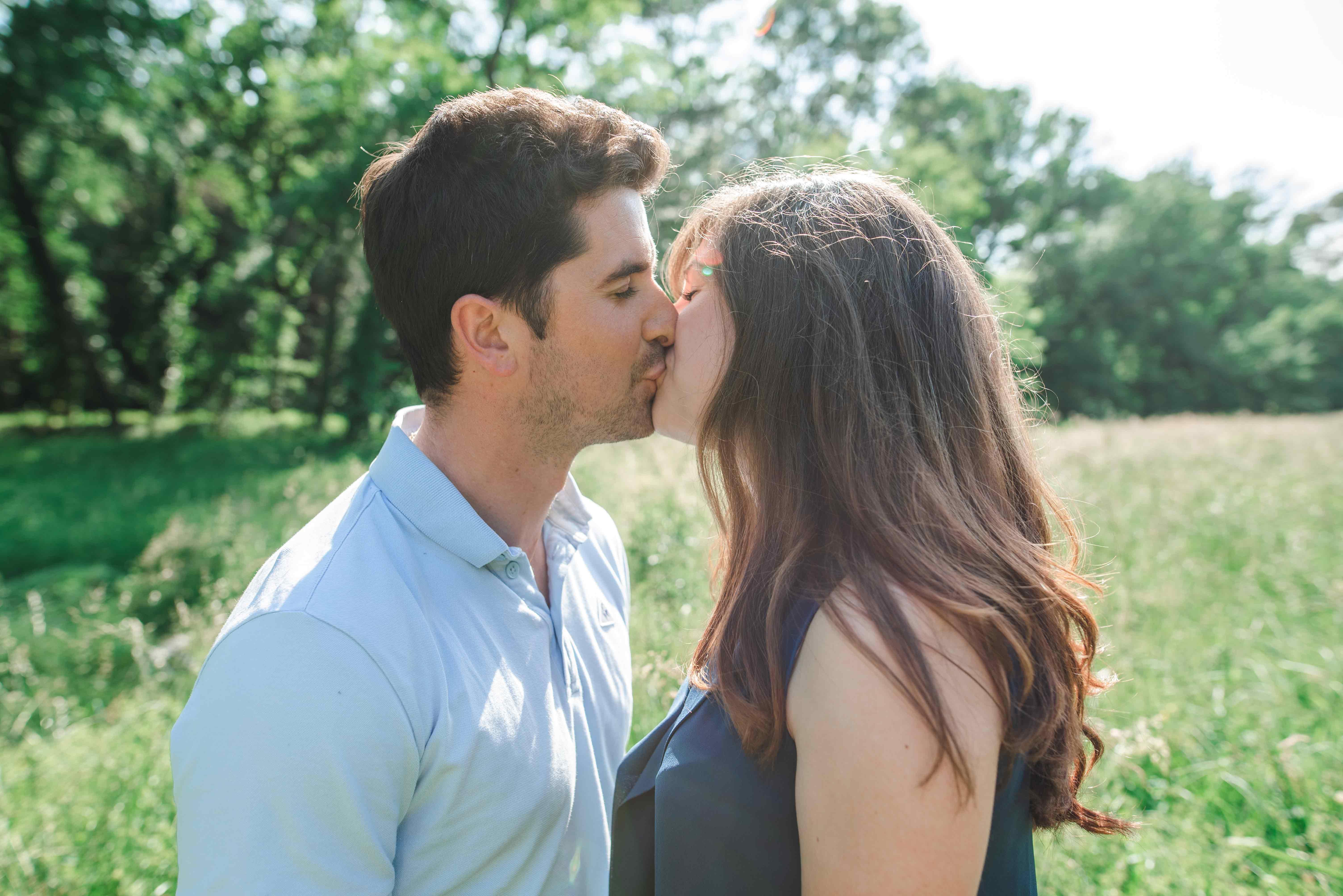 séance photo d'engagement côte d'azur
