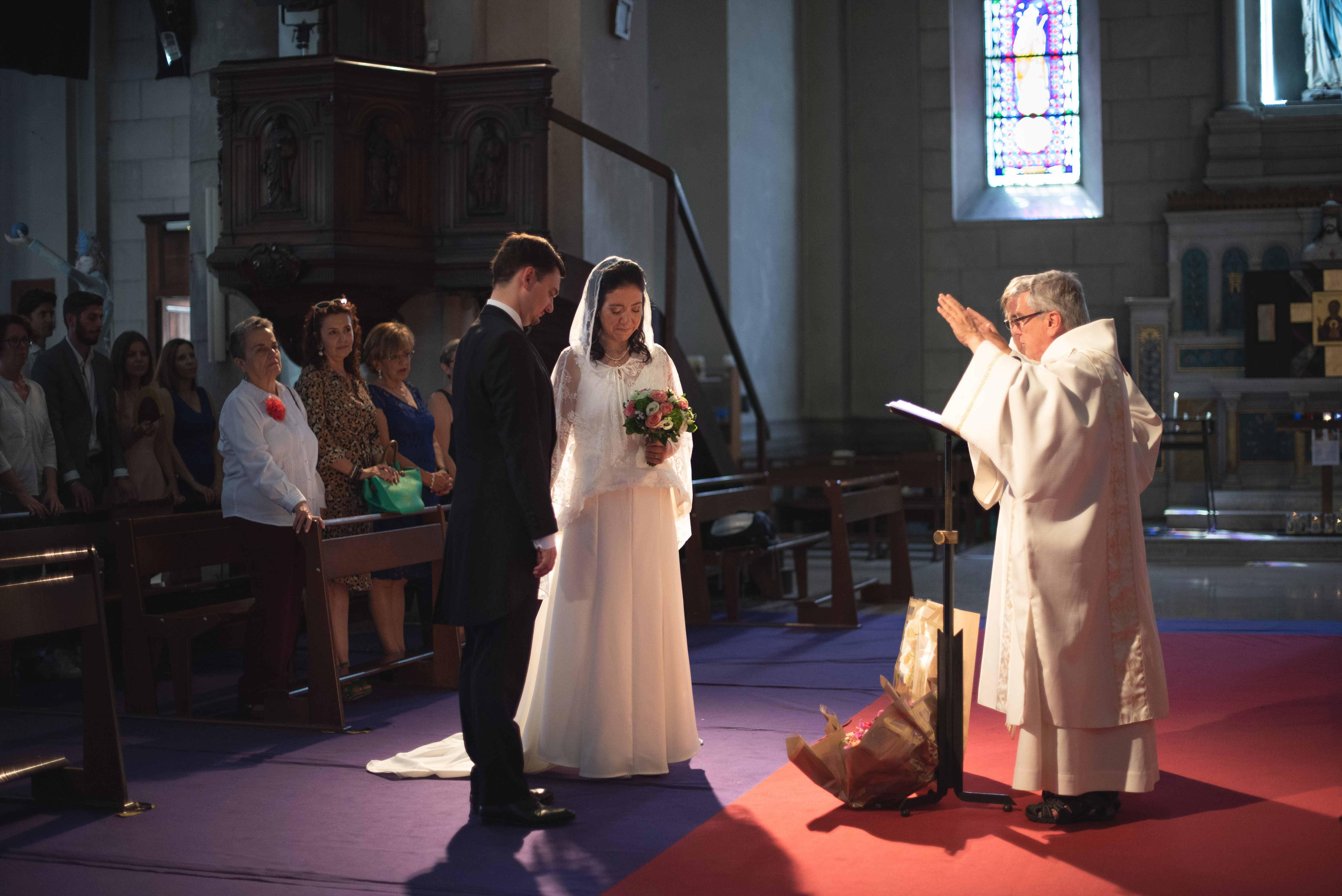 Mariage à l'église Nice reportage photo