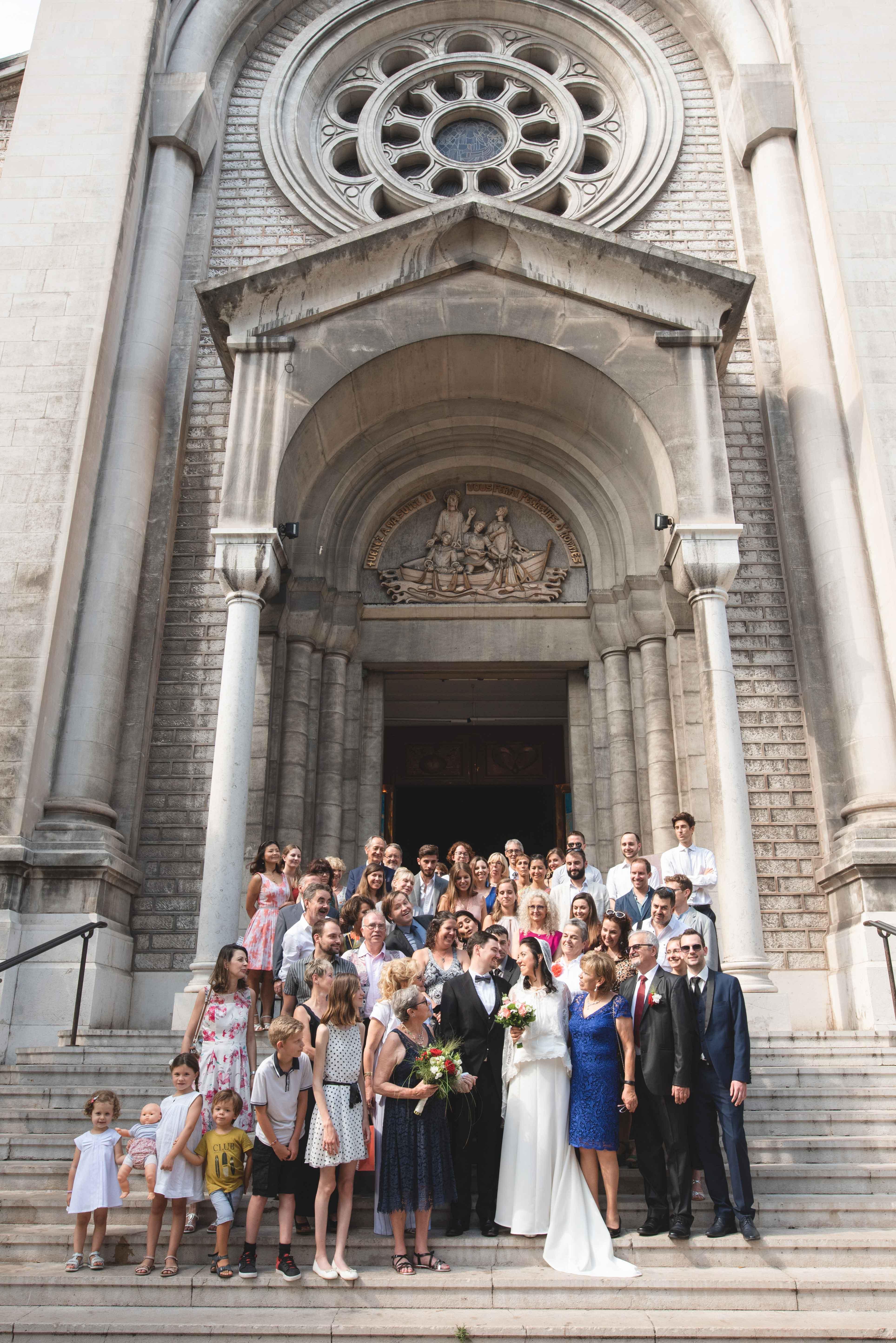 Reportage photo de mariage à l'église Nice