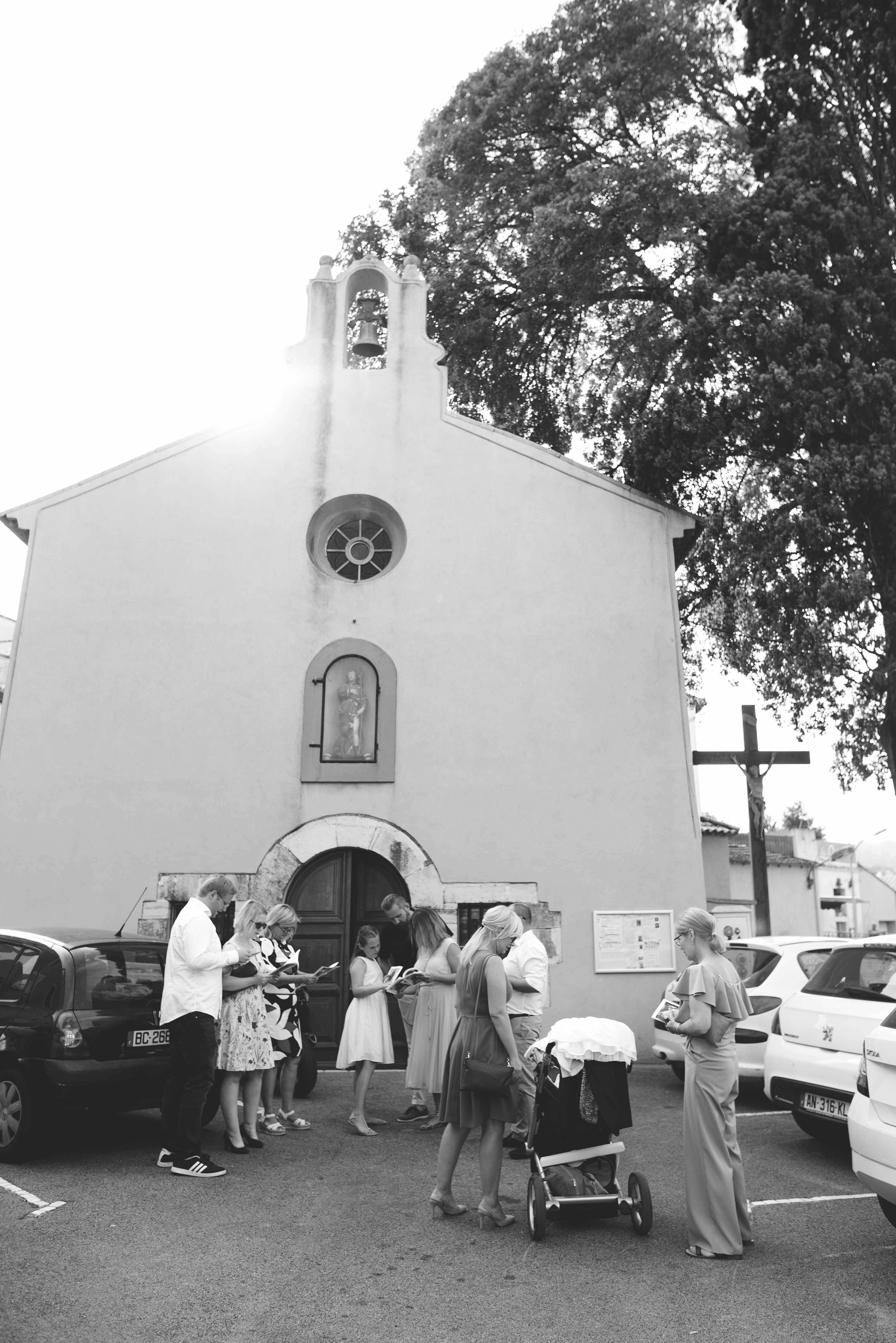 Reportage photo baptême à l'église Nice