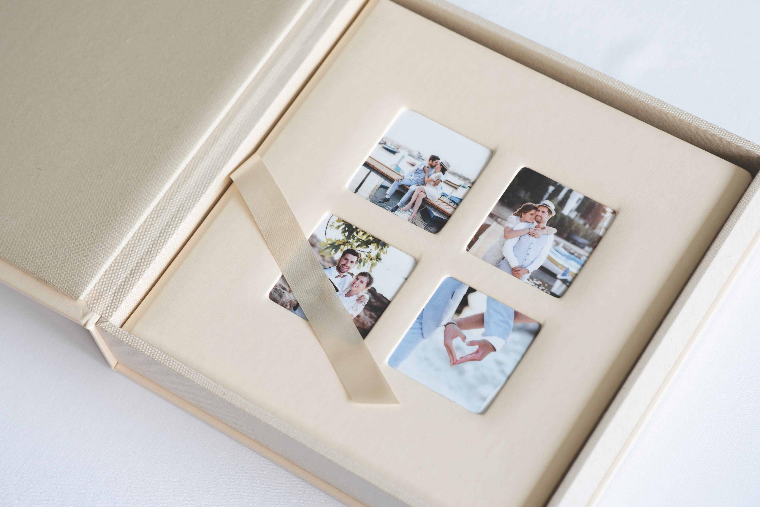 Album photo de mariage en cuir