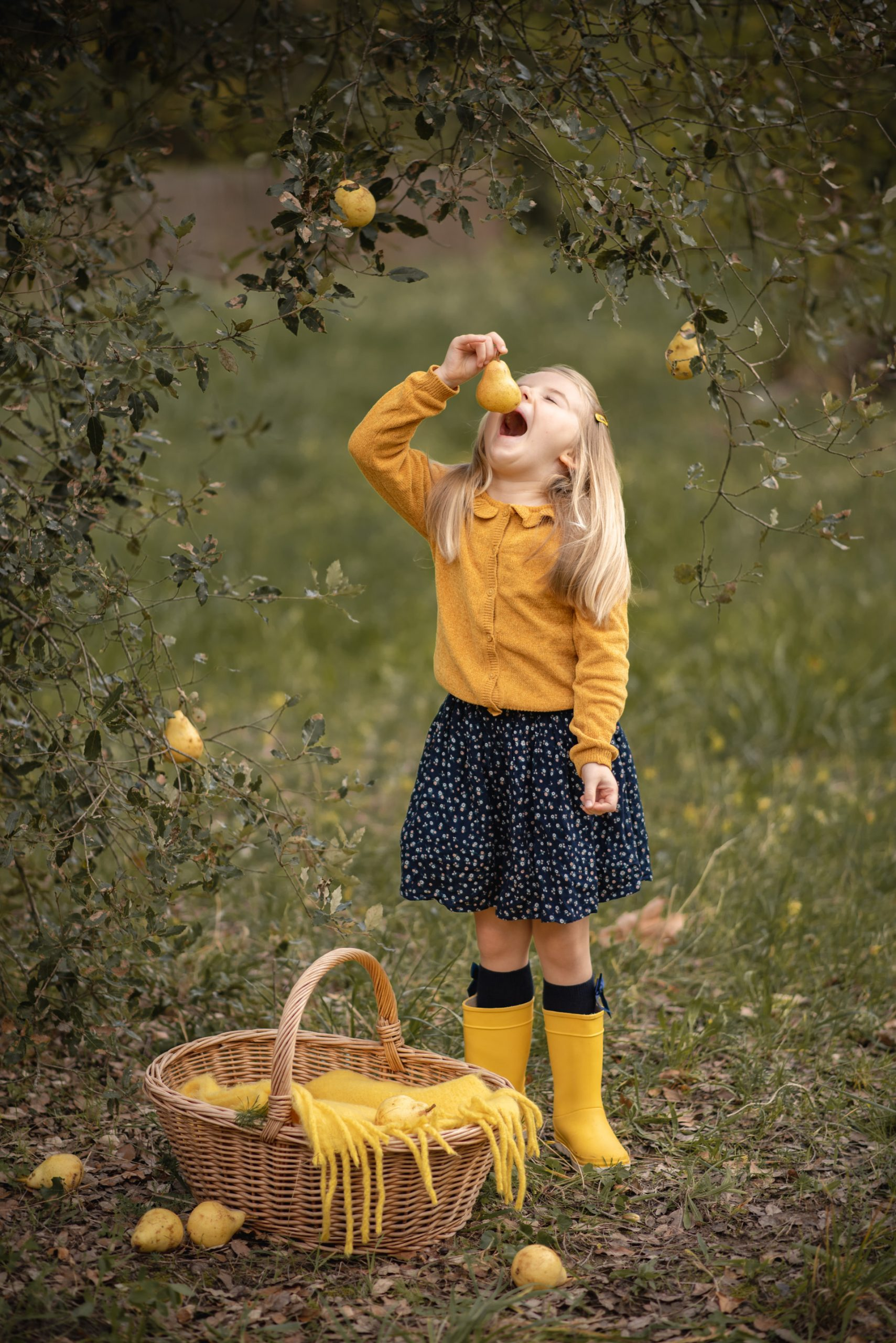 Séance photo fille enfant en automne