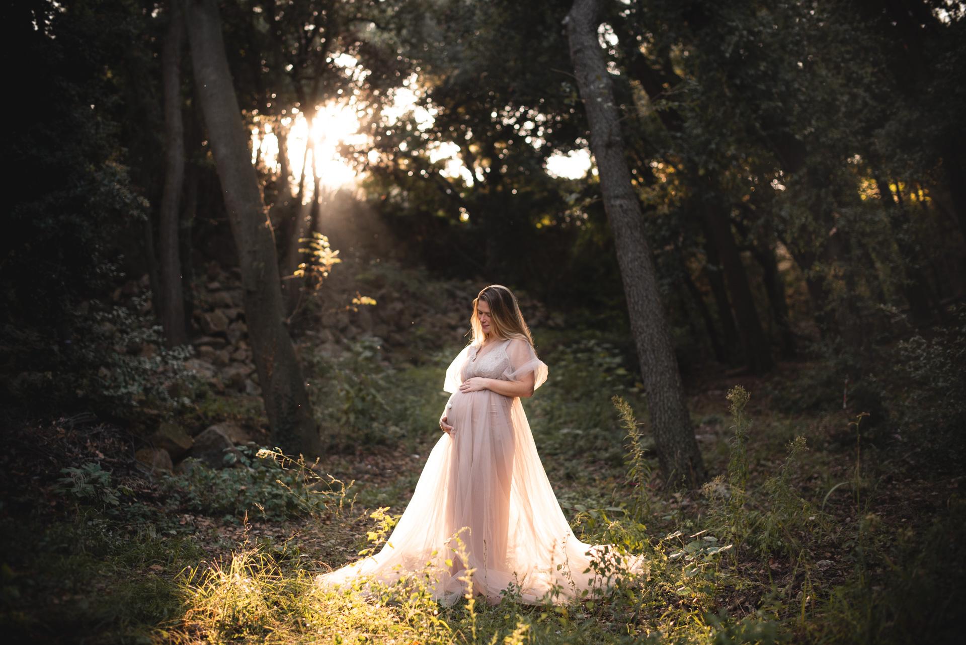 Séance de grossesse d'automne de Morgane